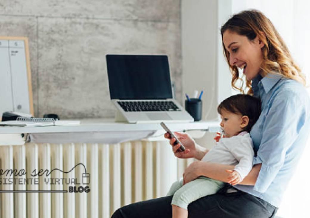 Dicas para conciliar o trabalho remoto e a maternidade